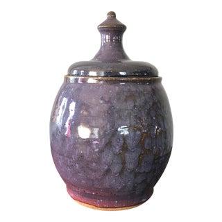 Mid-Century Modern Studio Pottery Lidded Jar