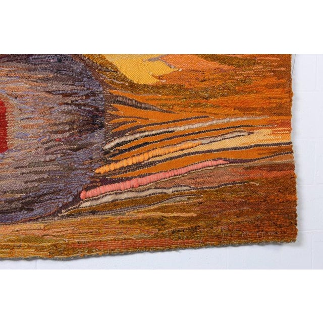 "Large Tapestry by Krystyna Wojtyna-Drouet Titled ""Fruit"" - Image 4 of 10"