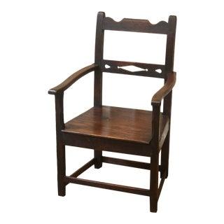 17th Century Antique English Oak Jacobean Arm Chair For Sale