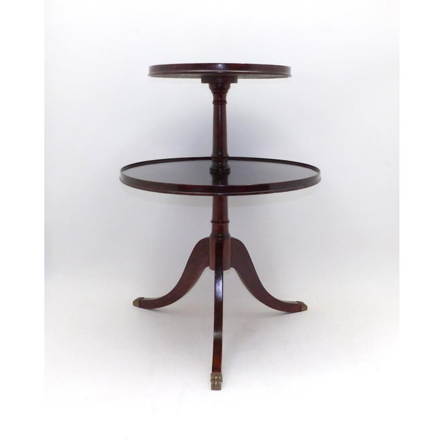 Mid-Century Modern 1945 Mid Century Modern Duncan Phyfe 2 Tiered Round Side Table For Sale - Image 3 of 8