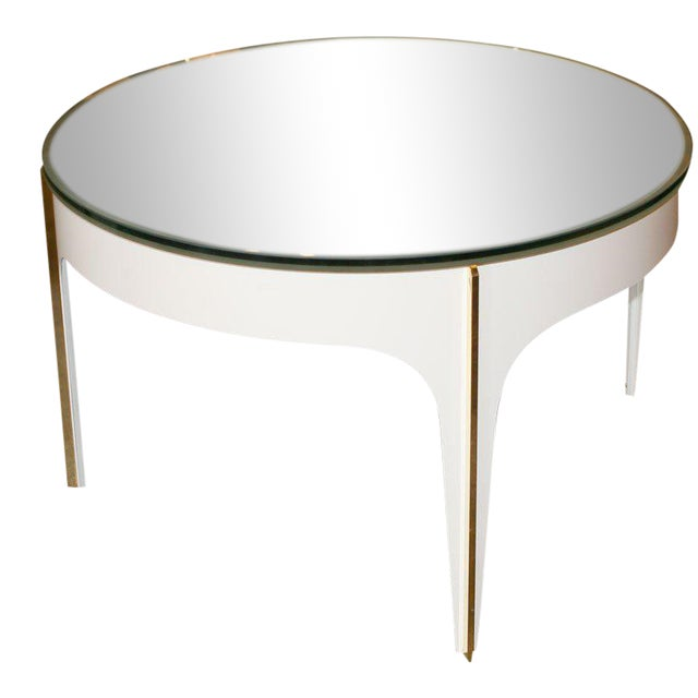 ma+39's Custom Ivory Magnifying Lens Coffee Table For Sale