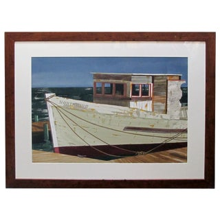 Watercolor on Paper 'Northwind, Bodega Bay, California' by Michael Dunlavey For Sale