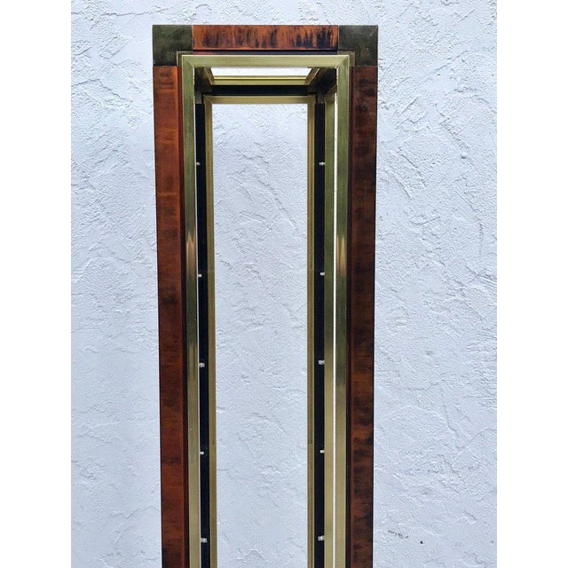 Midcentury Brass and Acid Washed Étagère, Attributed to Mastercraft For Sale - Image 9 of 10