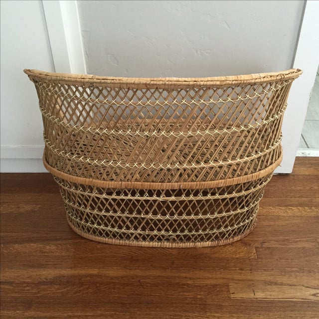 Vintage Child's Wicker Bench - Image 5 of 6