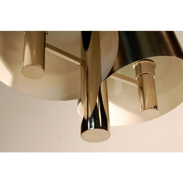 1970s Chic French, 1970s Polished Chrome Ribbon Chandelier by Maison Charles For Sale - Image 5 of 7