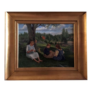 19th Century Swedish Painting by Bror Tycho Ödberg For Sale