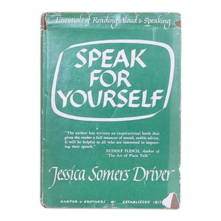 """Speak for Yourself"" Book For Sale"