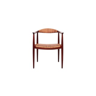 Hans Wegner Classic Cane Chair For Sale