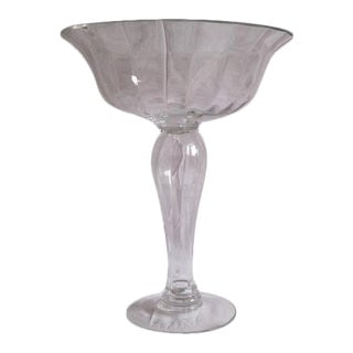 Tall Glass Compote Centerpiece