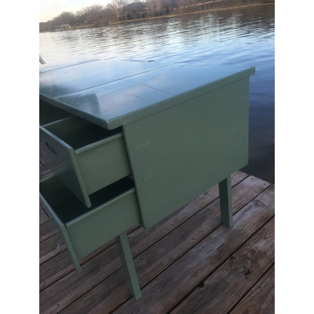 Metal 20th Century Industrial Aluminum Military Campaign Tanker Desk For Sale - Image 7 of 12