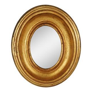 Italian Florentia Giltwood Oval Mirror For Sale