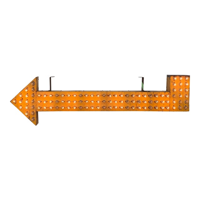 1930's Light Up Double Sided Arrow Sign For Sale