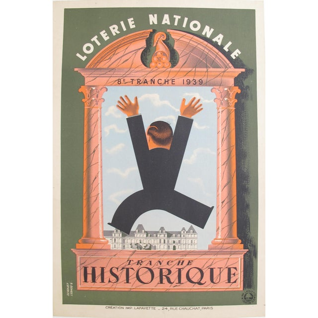 1939 French Loterie National Poster, Tranche Historique - Image 4 of 4