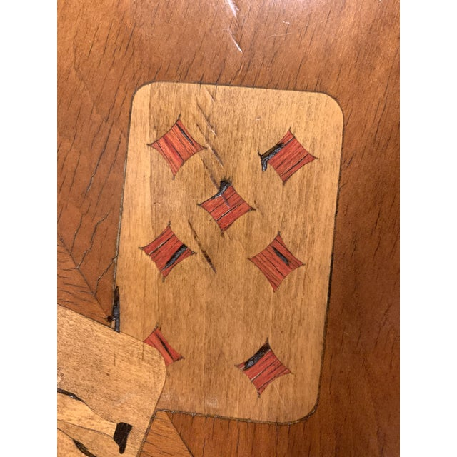 19th Century English Traditional Fruitwood Game Table With Inlay For Sale In Denver - Image 6 of 13