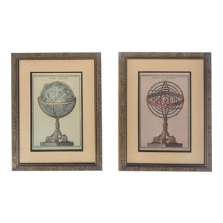 Spheres and Globes Serigraphs - A Pair For Sale