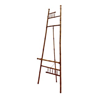 Antique Victorian Tortoise Shell Real Bamboo Art Easel For Sale