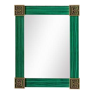 Fleur Home x Chairish Greek Key Mirror in Tortoise, 21x25.25 For Sale