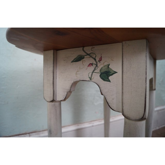 Hand Painted Andrea Davinci Braun Side Table For Sale - Image 9 of 10