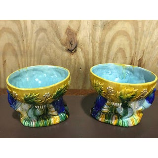 "Majolica George Jones Style ""Punch"" Bowls - A Pair Preview"