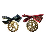 Image of Antique British Brass Bridle Ornaments - a Pair For Sale