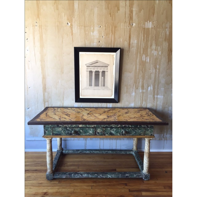 Painted Italian Antique Table For Sale - Image 10 of 10