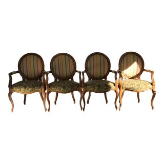 Fairfield Custom Unique Chairs - Set of 4 For Sale