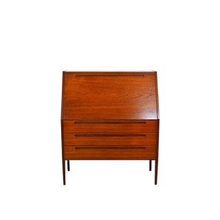 1960s Danish Modern Nils Jonsson Teak Secretary Desk For Sale