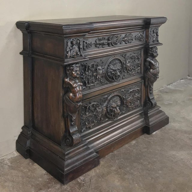 19th Century Italian Renaissance Commode For Sale - Image 4 of 13