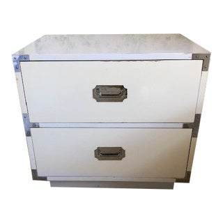 Vintage White Dixie Two Drawer Nightstand For Sale