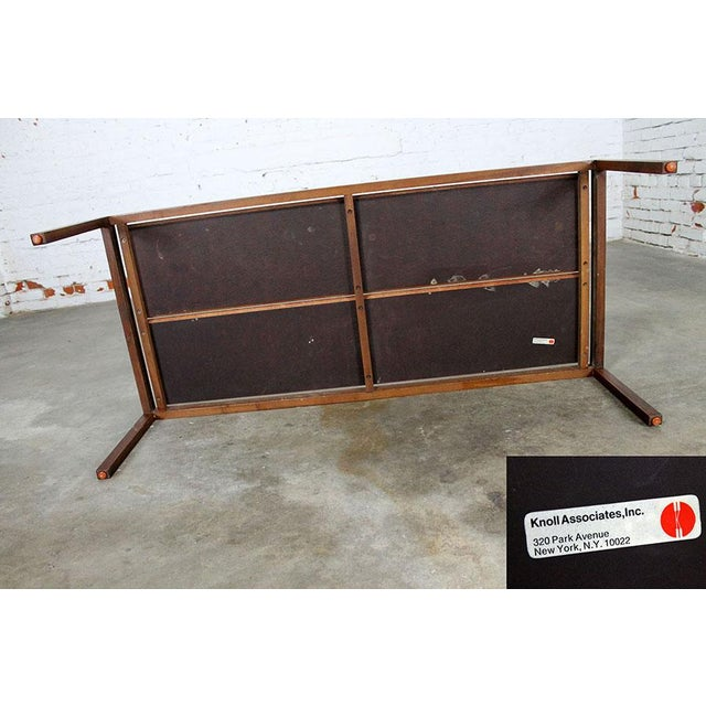Lewis Butler for Knoll Walnut & White Laminate Coffee Table For Sale - Image 5 of 11