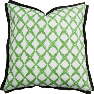 "Fern Trellis Greenery 22"" Pillow For Sale"