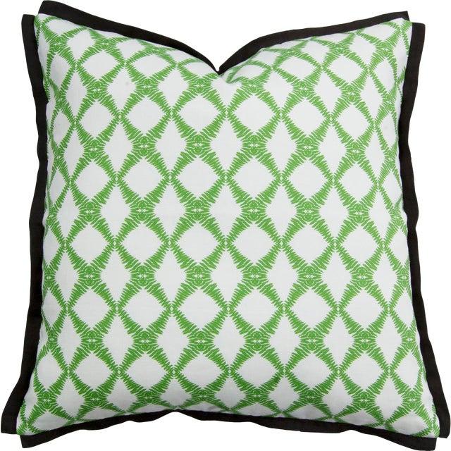 "Fern Trellis Greenery 22"" Pillow For Sale"