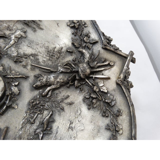 Silver Hunting Trophy Desk Tray - Image 3 of 5