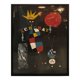 Original Vintage 1973 'Acrobat' Screen Print by Wolfgang Roth For Sale