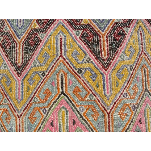 Vintage Turkish Kilim Rug - 5′3″ × 7′1″ For Sale - Image 9 of 11