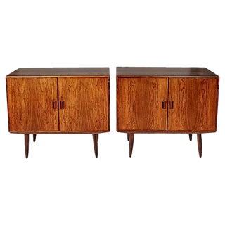 Borge Mogensen Danish Rosewood Storage Cabinets, Pair