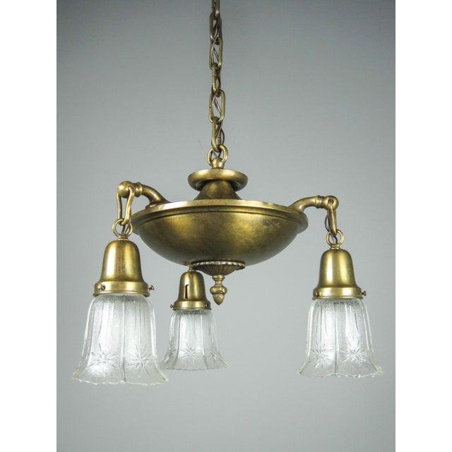 Original Arts & Crafts Pan Light Fixture (3-Light) - Image 3 of 8