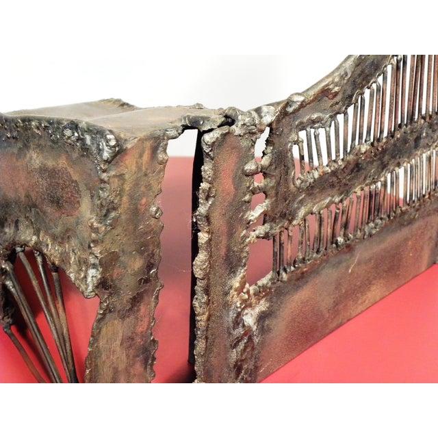 Mid-Century Modern Brutalist Metal Sculpture - Image 5 of 6