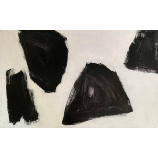 """""""Wide Open Spaces"""" Contemporary Abstract Black and White Acrylic Painting by Sarah Trundle For Sale"""