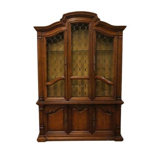 20th Century Southwestern Drexel Estorada Lighted China Cabinet For Sale