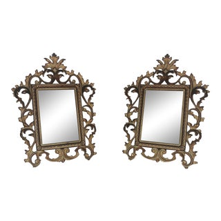 Antique 19th Century French Rococo Style Gilt Metal Rabbet Opening Picture / Photo Frames - a Pair For Sale