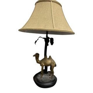 Vintage Bronze Camel Lamp For Sale