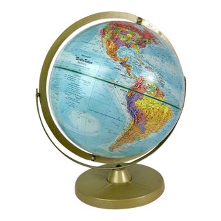 Mid 20th Century Vintage Replogle World Nations Series Globe For Sale