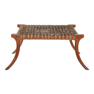 Mid-Century Klismos Style Wood Bench For Sale