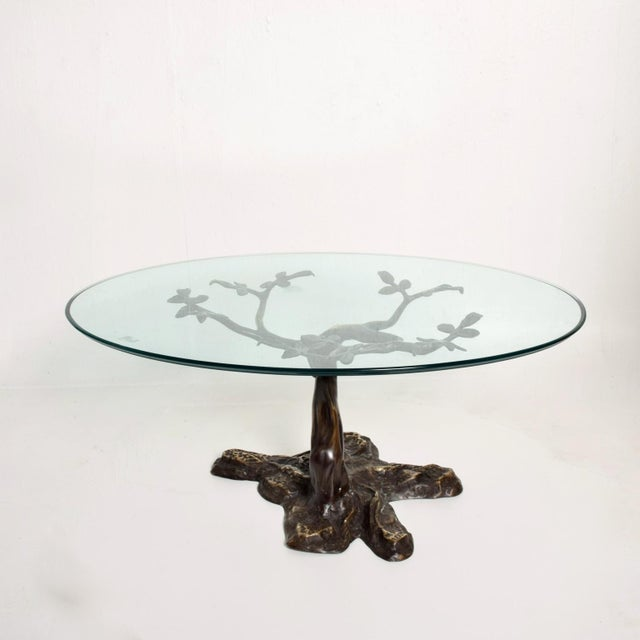 Willy Daro Willy Daro Mid-Century Contemporary Bronze Bonsai Tree Coffee Table For Sale - Image 4 of 9
