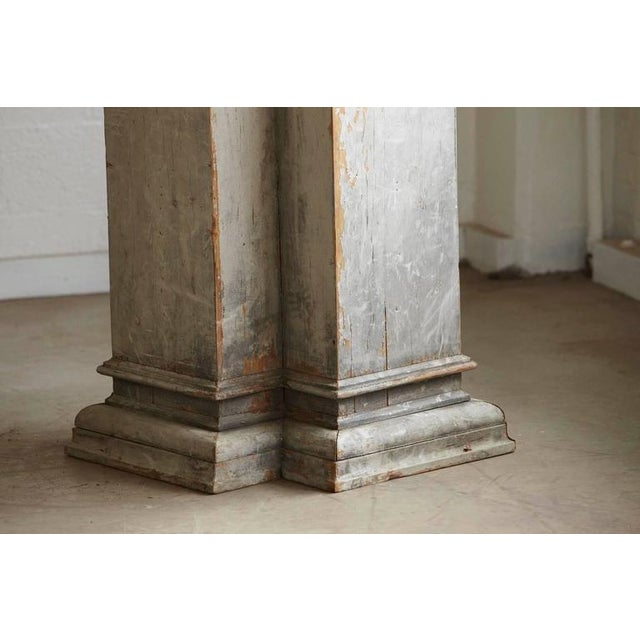 Distressed Tall Wooden Architectural Column with Patina For Sale In New York - Image 6 of 9
