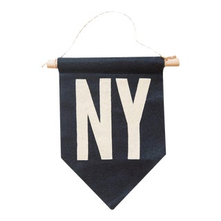 Navy NY Felt Flag For Sale