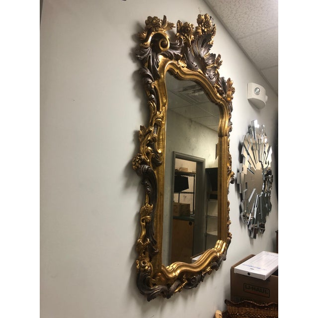 Late 20th Century Carved Gold Gilt Mirror For Sale - Image 5 of 10