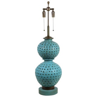 1950s Large Mid-Century Ceramic Lamp For Sale