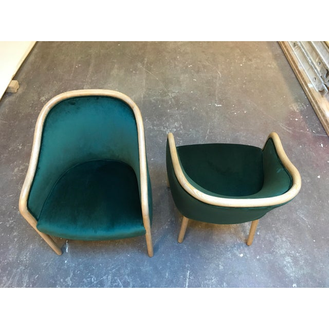 Contemporary 1980s Vintage Ward Bennet Cerused Oak Chairs- A Pair For Sale - Image 3 of 12